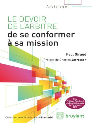 cover image of Le devoir de l'arbitre de se conformer à sa mission