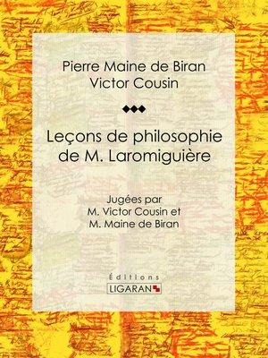 cover image of Leçons de philosophie de M. Laromiguière