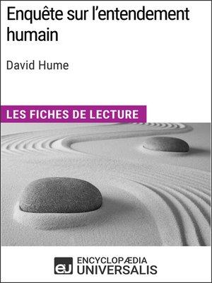 cover image of Enquête sur l'entendement humain de David Hume