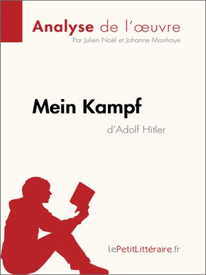 cover image of Mein Kampf d'Adolf Hitler (Analyse de l'oeuvre)
