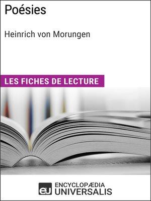 cover image of Poésies de Heinrich von Morungen