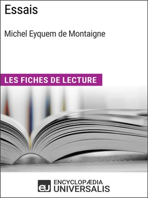 cover image of Essais de Michel Eyquem de Montaigne