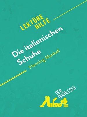 cover image of Die italienischen Schuhe von Henning Mankell (Lektürehilfe)