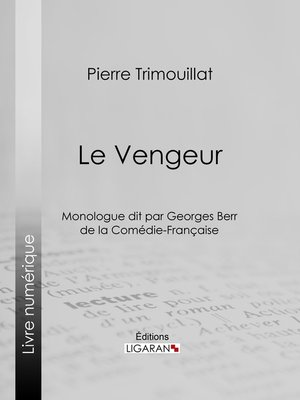 cover image of Le Vengeur