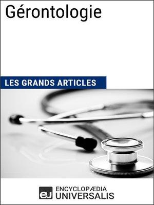 cover image of Gérontologie