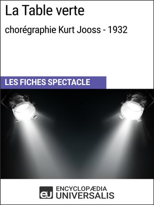 cover image of La Table verte (chorégraphie Kurt Jooss--1932)