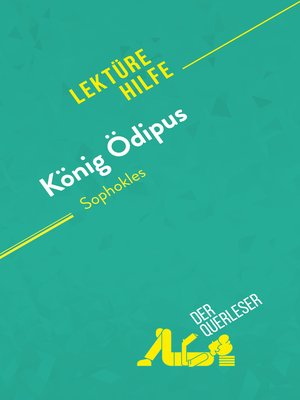 cover image of König Ödipus von Sophokles (Lektürehilfe)