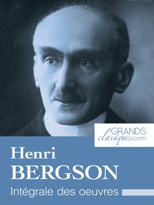cover image of Henri Bergson