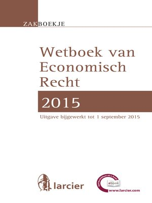 cover image of Wetboek Economisch recht 2015