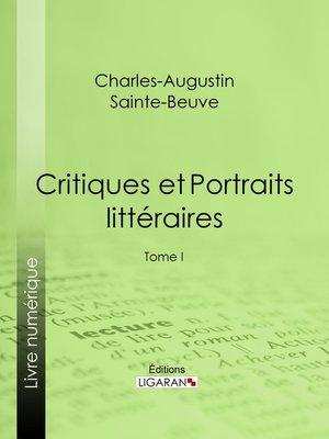 cover image of Critiques et Portraits littéraires