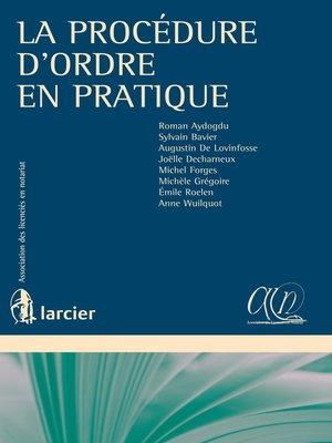 cover image of La procédure d'ordre en pratique