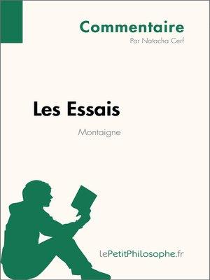 cover image of Les Essais de Montaigne--Commentaire
