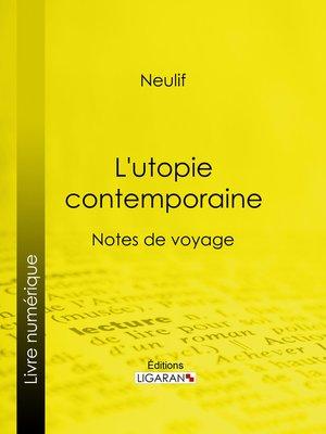 cover image of L'utopie contemporaine