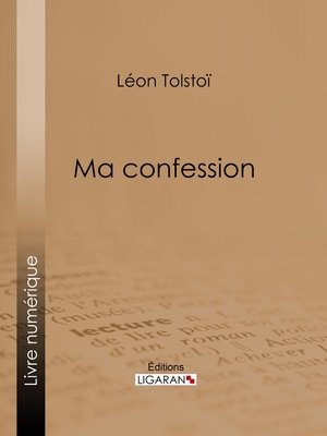 cover image of Ma confession