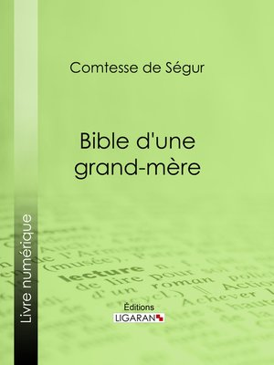 cover image of Bible d'une grand-mère