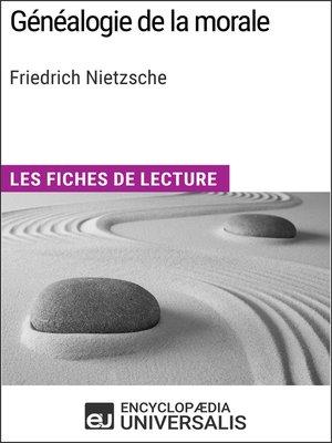 cover image of Généalogie de la morale de Friedrich Nietzsche