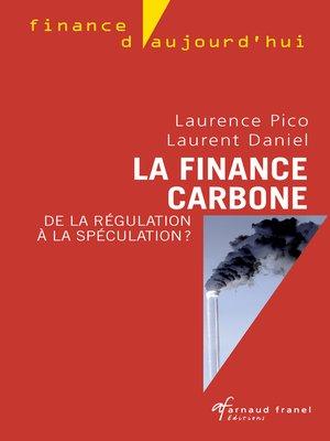 cover image of La finance carbone