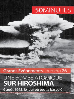 cover image of Une bombe atomique sur Hiroshima