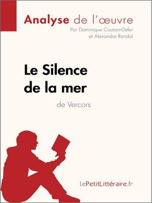 cover image of Le Silence de la mer de Vercors--Fiche de lecture
