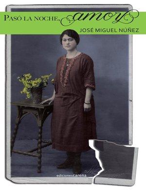 cover image of Pasó la noche, amor