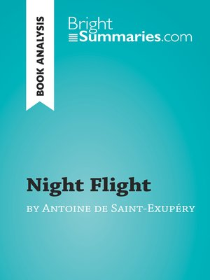 cover image of Night Flight by Antoine de Saint-Exupéry (Book Analysis)