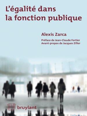 cover image of L'égalité dans la fonction publique