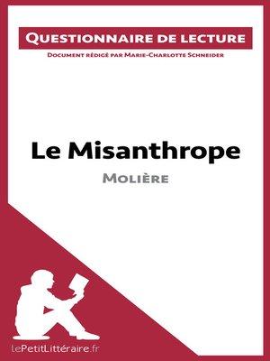 cover image of Le Misanthrope de Molière