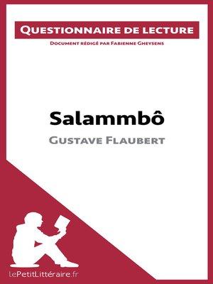cover image of Salammbô de Gustave Flaubert