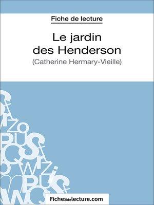 cover image of Le jardin des Henderson