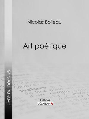 cover image of Art poétique