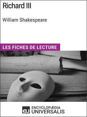 cover image of Richard III de William Shakespeare