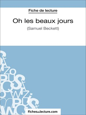 cover image of Oh les beaux jours