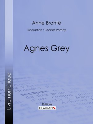 cover image of Agnès Grey