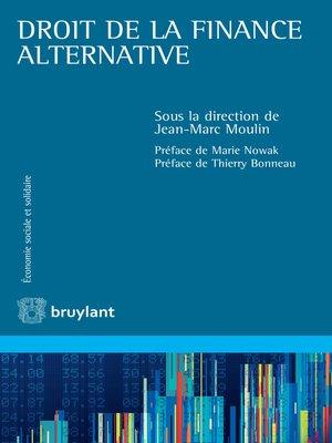 cover image of Droit de la finance alternative