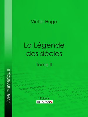 cover image of La Légende des siècles