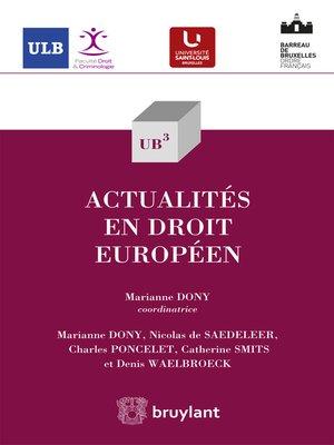 cover image of Actualités en droit européen