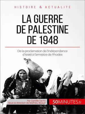 cover image of La guerre de Palestine de 1948