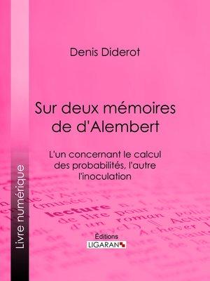 cover image of Sur Deux Mémoires de d'Alembert