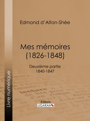 cover image of Mes Mémoires (1826-1848)