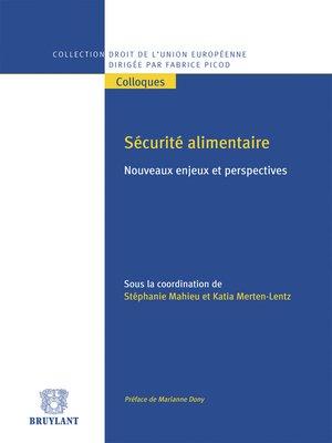 cover image of Sécurité alimentaire