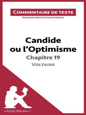 cover image of Candide ou l'Optimisme de Voltaire--Chapitre 19