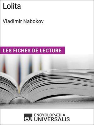 cover image of Lolita de Vladimir Nabokov
