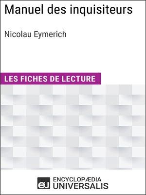 cover image of Manuel des inquisiteurs de Nicolau Eymerich