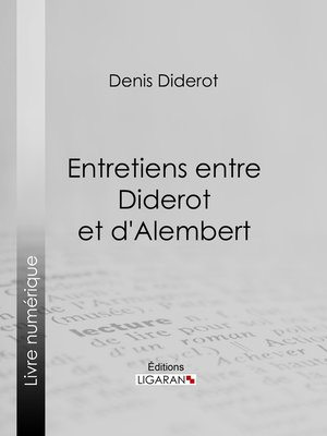 cover image of Entretiens entre Diderot et d'Alembert