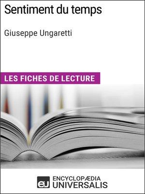 cover image of Sentiment du temps de Giuseppe Ungaretti