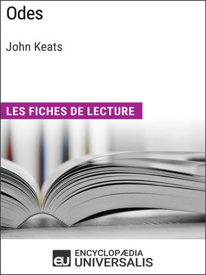 cover image of Odes de John Keats