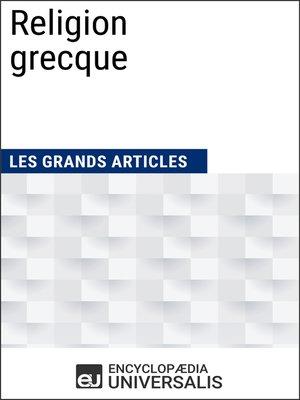 cover image of Religion grecque