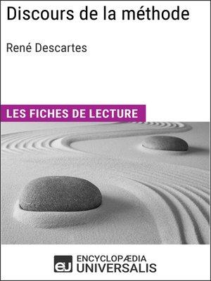 cover image of Discours de la méthode de René Descartes