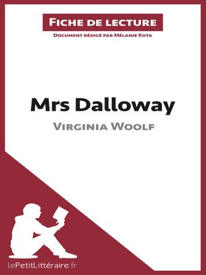 cover image of Mrs Dalloway de Virginia Woolf (Fiche de lecture)