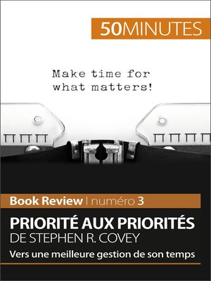 cover image of Priorité aux priorités de Stephen R. Covey (Book review)